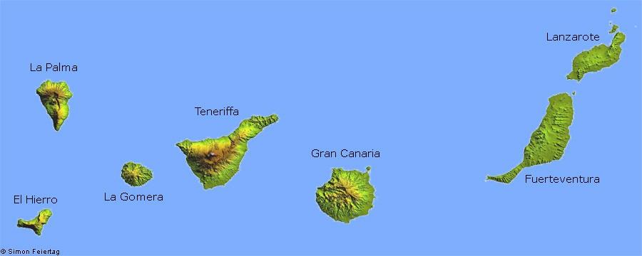 kanaren karte Karte   Kanarische Inseln kanaren karte